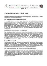Dienstzeitanrechnung - GKG 1959 - Pharmazeutische Gehaltskasse