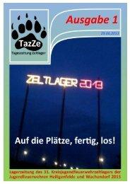 Ausgabe 1 - Zeltlager 2013