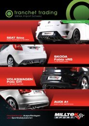 VOLKSWAGEN Polo GTi AUDI A1 SKODA Fabia ... - Tranchet Trading