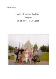 Indien – Rajasthan Rundreise Mediplus 07. 04. 2013 - 24. 04. 2013