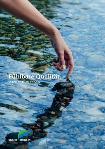 Flyer: Fühlbare Qualität. Wasser fürs Leben (975 ... - Unsere Steinach