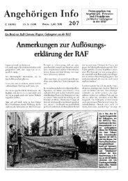 Anmerkungen zur Auflösung der RAF - Social History Portal