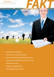 Bürgerentlastungsgesetz • Geschenke an Geschäftsfreunde ...