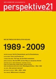 1989 - 2009 - Perspektive 21