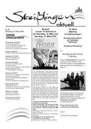 Das Mitteilungsblatt zum Herunterladen. - Steißlingen