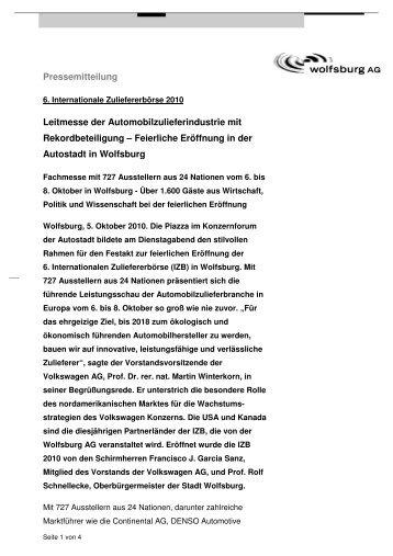 PM_IZB2010_OpeningEvent_mail1_101005 - Wolfsburg AG