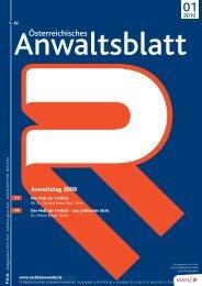 Anwaltsblatt 2010/01 - Österreichischer Rechtsanwaltskammertag