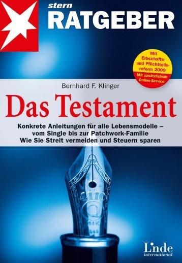 Leseprobe zum Titel: Das Testament - Die Onleihe