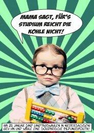 Am 20. Januar 2013 sind Landtagswahlen - Bildungspolitik - Jusos ...