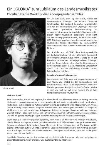"""Ein """"GLORIA"""" zum Jubiläum des Landesmusikrates - Verband ..."""