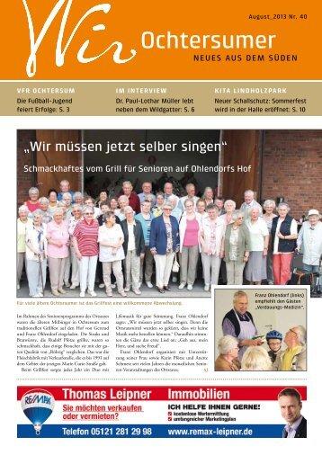 Ausgabe 08/2013 - Wir Ochtersumer