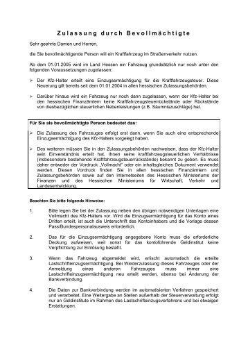 Kfz Zulassung Durch Bevollmãchtigte Autohaus Herpich In Erbach