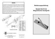 Bedienungsanleitung Modell GA-72 Cd Magnetisches Suchgerät