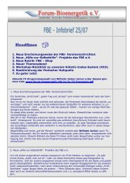 Infobrief 25-07-11 - Forum-Bioenergetik eV