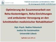 Optimierung der Zusammenarbeit von Reha ... - DGSMP