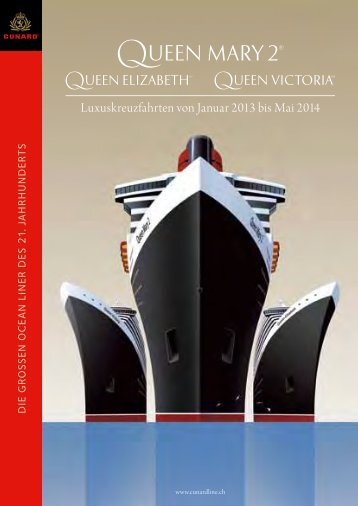 Cunard Katalog 2013/14