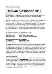 TRIGOS-Gewinner 2013 - WIN - Steiermark