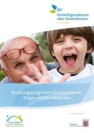 Beratungsmodul - Freiwilligendienste aller Generationen in Hessen