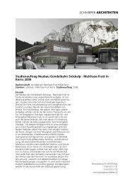 Doku (PDF) - Schnieper Architekten