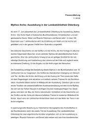 Mythos Arche: Ausstellung in der Landesbibliothek Oldenburg