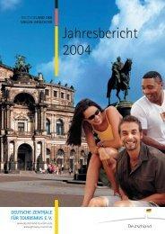 Jahresbericht 2004 - DSFT Deutsches Seminar für Tourismus Berlin