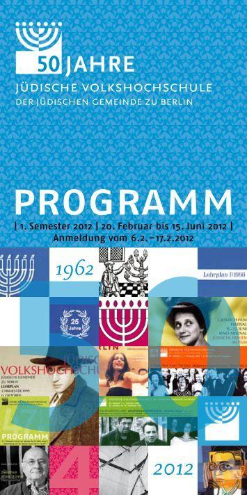 programm - Jüdische Volkshochschule Berlin