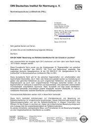 Pressemitteilung zu DIN EN 16268 - Normenausschuss Lichttechnik