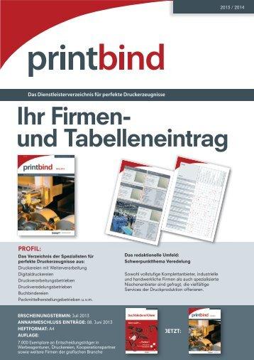 Ihr Firmen- und Tabelleneintrag - Bindereport