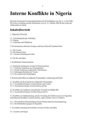 Interne Konflikte in Nigeria 2006.pdf - Peterhunziker.ch