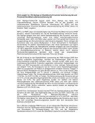 Fitch rated Westfälische Provinzial Versicherung AG