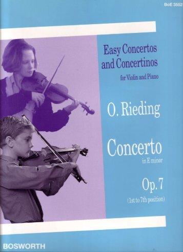 Easy Concertos and Concertinos