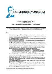 Grundsatzpapier - Lise-Meitner-Gymnasium