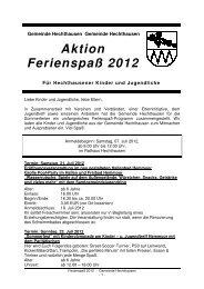 Ferienaktion 2012 Programm