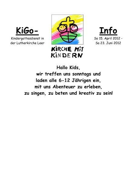 KIGO-Info 2012.2 April-Juni - Lutherkirche Leer