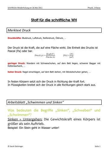 Berühmt Sinken Oder Schwimmen Arbeitsblatt Zeitgenössisch - Mathe ...