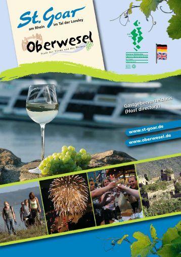 Gastgeberverzeichnis (Host directory ... - Oberwesel