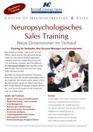 Neuropsychologisches Sales Training - Neuromarketing & Sales