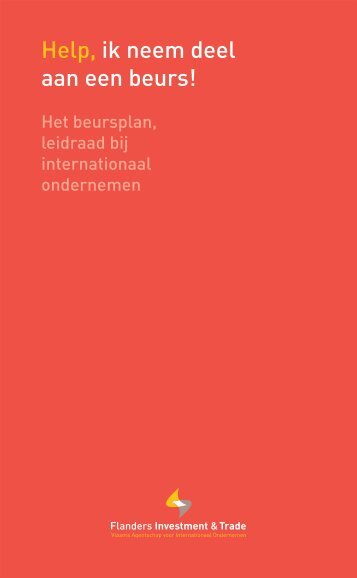 Help, ik neem deel aan een beurs! - Flanders Investment & Trade