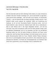 Lateinische Stilübungen 3 / Exercitia latina Text 5 (Cic. leg.2,64-66 ...