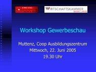 Workshop Gewerbeschau