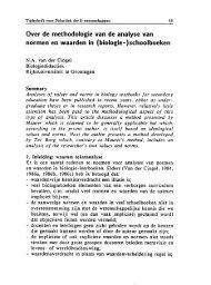 Over de methodologie van de analyse van normen en waarden in ...