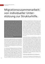 Migrationszusammenarbeit: von individueller Unter ... - terra cognita
