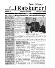 """Amtsblatt """"Nordhäuser Ratskurier"""" Nr. 2005/3 - Stadt Nordhausen"""