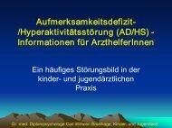 ADHS für Arzthelferinnen