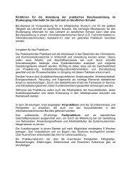 Richtlinien für die Ableistung der praktischen Berufsausbildung im ...
