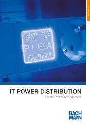 IT Power Distribution - BACHMANN PDF-Katalog - Max Hauri AG