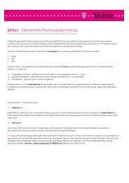 Edifact – Elektronische Rechnungsübermittlung. - T-Mobile Business