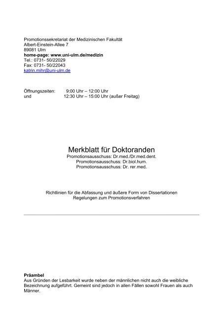 uni ulm dissertation merkblatt
