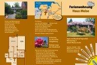 Flyer vom Haus Meise - Ferienwohnung Haus Meise in Westerstede