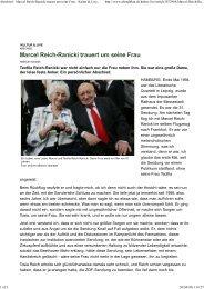 Abschied - Marcel Reich-Ranicki trauert um seine Frau - Kultur ...